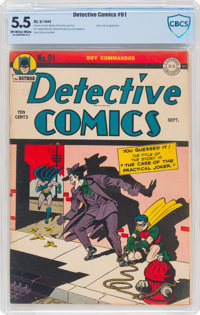 Detective Comics #91 (DC, 1944) CBCS FN- 5.5 Off-white to white pages