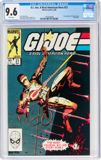 G. I. Joe, A Real American Hero #21 (Marvel, 1984) CGC NM+ 9.6 White pages