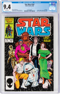 Star Wars #107 (Marvel, 1986) CGC NM 9.4 White pages