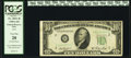 Inverted Back Error Fr. 2011-B $10 1950A Federal Reserve Note. PCGS Very Fine 20