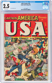 USA Comics #15 (Timely, 1945) CGC GD+ 2.5 Off-white pages