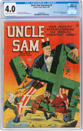 Golden Age (1938-1955):Superhero, Uncle Sam Quarterly #5 (Quality, 1942) CGC VG 4.0 Cream to off-white pages....