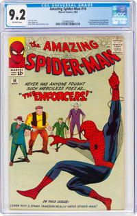 The Amazing Spider-Man #10 (Marvel, 1964) CGC NM- 9.2 Off-white pages