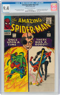 Silver Age (1956-1969):Superhero, The Amazing Spider-Man #37 (Marvel, 1966) CGC NM 9.4 Off-white to white pages....