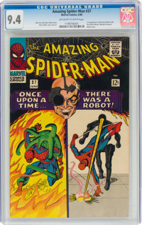 The Amazing Spider-Man #37 (Marvel, 1966) CGC NM 9.4 Off-white to white pages