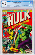 Bronze Age (1970-1979):Superhero, The Incredible Hulk #181 (Marvel, 1974) CGC NM- 9.2 Cream to off-white pages....