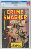 Golden Age (1938-1955):Crime, Crime Smasher #1 (Fawcett Publications, 1948) CGC VF+ 8.5 White pages....