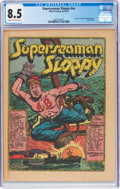 Platinum Age (1897-1937):Miscellaneous, Superseaman Sloppy #nn (Allied Printing, No Date) CGC VF+ 8.5 Cream to off-white pages....