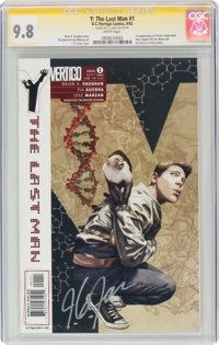 Y: The Last Man #1 Signature Series: J. G. Jones (DC/Vertigo, 2002) CGC NM/MT 9.8 White pages