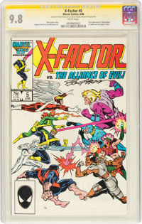 X-Factor #5 Signature Series: Ron Frenz (Marvel, 1986) CGC NM/MT 9.8 White pages