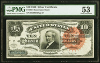 Fr. 293 $10 1886 Silver Certificate PMG About Uncirculated 53