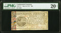 Colonial Notes:Continental Congress Issues, Continental Currency May 10, 1775 $20 PMG Very Fine 20 Net...