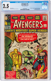 The Avengers #1 (Marvel, 1963) CGC GD+ 2.5 Cream to off-white pages