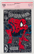 Modern Age (1980-Present):Superhero, Spider-Man #1 Silver Edition - Signature Series: Todd McFarlane (Marvel, 1990) CBCS NM+ 9.6 White pages....