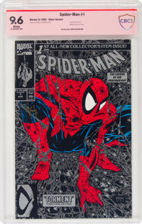 Spider-Man #1 Silver Edition - Signature Series: Todd McFarlane (Marvel, 1990) CBCS NM+ 9.6 White pages