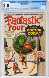 Fantastic Four #5 (Marvel, 1962) CGC GD/VG 3.0 Off-white to white pages