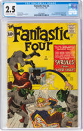 Silver Age (1956-1969):Superhero, Fantastic Four #2 (Marvel, 1962) CGC GD+ 2.5 Cream to off-white pages....