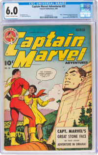 Captain Marvel Adventures #33 (Fawcett Publications, 1944) CGC FN 6.0 Cream to off-white pages