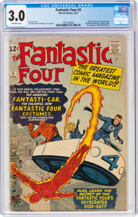 Fantastic Four #3 (Marvel, 1962) CGC GD/VG 3.0 Off-white pages