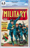 Golden Age (1938-1955):War, Military Comics #33 (Quality, 1944) CGC FN+ 6.5 White pages....