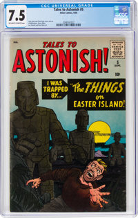 Tales to Astonish #5 (Marvel, 1959) CGC VF- 7.5 Off-white to white pages