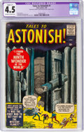 Silver Age (1956-1969):Horror, Tales to Astonish #1 (Marvel, 1959) CGC Apparent VG+ 4.5 Slight (C-1) Off-white to white pages....