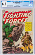 Golden Age (1938-1955):War, Our Fighting Forces #1 (DC, 1954) CGC FN+ 6.5 Off-white to white pages....