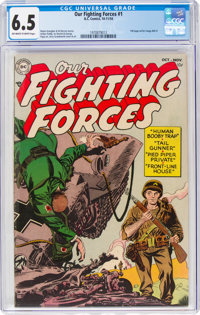 Our Fighting Forces #1 (DC, 1954) CGC FN+ 6.5 Off-white to white pages