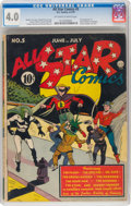 Golden Age (1938-1955):Superhero, All Star Comics #5 (DC, 1941) CGC VG 4.0 Off-white to white pages....