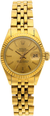 Rolex Lady's Gold Datejust Watch