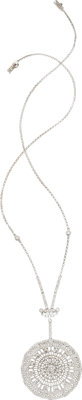 Diamond, White Gold Necklace