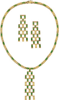 Enamel, Gold Jewelry Suite ... (Total: 2 Items)