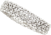 Diamond, Platinum, White Gold Bracelet
