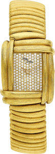 Estate Jewelry:Watches, Henry Dunay Lady's Diamond, Gold Sabi Watch. ...