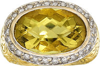 Citrine, Diamond, Gold Ring, SeidenGang