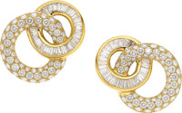 Diamond, Gold Earrings, Charles Krypell