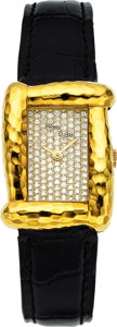 Estate Jewelry:Watches, Henry Dunay Lady's Diamond, Gold Madea Watch. ...
