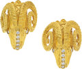 Estate Jewelry:Earrings, Diamond, Gold Earrings, Maramenos Pateras. ...
