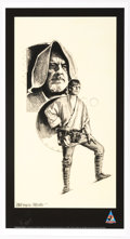 "Memorabilia:Science Fiction, Lawrence Noble ""Luke Skywalker and Obi-Wan Kenobi"" Signed Limited Edition Print #68/100 (Lucasfilm, 2007)...."