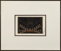 Erté (Romain de Tirtoff) (Russian/French, 1892-1990) Set Design for the Ziegfield Follies, 1923 Gouache on paper...
