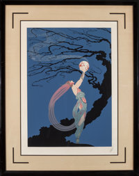 Erté (Romain de Tirtoff) (Russian/French, 1892-1990) Fireflies, 1980 Embossed serigraph on paper