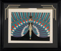 Works on Paper, Erté (Romain de Tirtoff) (Russian/French, 1892-1990). The Nile, 1982. Serigraph with metallic ink on paper. 19-1/2 x 24-...