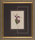 Works on Paper, Erté (Romain de Tirtoff) (Russian/French, 1892-1990). Costume Design. Pencil, gouache, and ink on paper. 11-1/2 x 8-1/8 ...