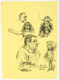 Robert Crumb - Placemat Sketch Original Art (1992)