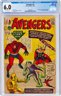 The Avengers #2 (Marvel, 1963) CGC FN 6.0 Off-white pages