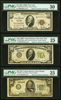 Small Size:Federal Reserve Bank Notes, Fr. 1860-B $10 1929 Federal Reserve Bank Note. PMG Very Fine 30;. Fr. 2002-B $10 1928B Light Green Seal Federal Reserve No... (Total: 6 notes)