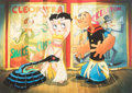 Memorabilia:Print, Toby Bluth Hootchy-Kootchy Betty Boop and Popeye Limited Edition Gicleé #44/125 (Hearst Holdings/Fleis...