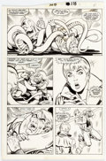 Original Comic Art:Panel Pages, Keith Pollard and Romeo Tanghal Fantastic Four #328 Story Page 16 Original Art (Marvel, 1989)....