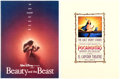 Memorabilia:Print, Beauty and the Beast and Pocahontas Film Premiere Programs Group of 2 (Walt Disney, 1991/95). ... (Total: 2 Original Art)
