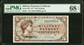 Military Payment Certificates:Series 691, Series 691 $5 First Printing PMG Superb Gem Unc 68 EPQ.. ...